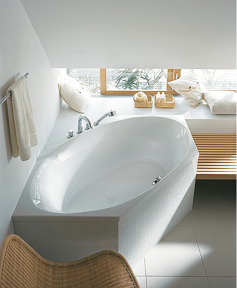 Large Image of Duravit 2 x 3 Hexagonal Bath Tub 1900 x 900mm - 700025000000000