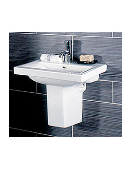 RAK Mistral 1 Tap Hole Basin With Semi Pedestal 510mm