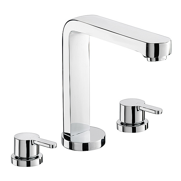 Large Image of Sagittarius Plaza 3 Holes Bath Filler Tap - PL-111-C