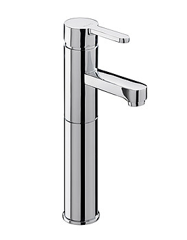 Plaza Extended Monobloc Basin Mixer Tap With Pop Up Waste PL-109-C