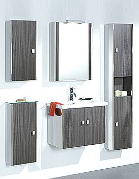 Image of HIB Manhattan Complete Combi Fitted Furniture Unit Set with Basin