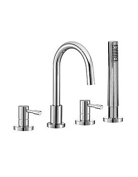 Mayfair Series F 4 Hole Bath Shower Mixer Tap With Shower Kit | SFL047