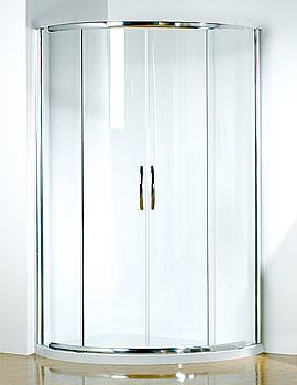 Image of Infinite 1000x810 LH Curved Center Access Slider Door With Tray And Waste