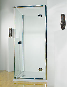 Infinite 800mm LH Straight Hinged Shower Door With Tray And Waste