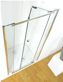 Kudos Infinite 1000mm Bi-Fold Shower Door With Tray And Waste