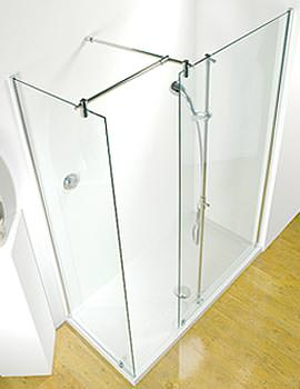 Kudos Ultimate 1500 LH Corner Walk-In Panel With Shower Tower