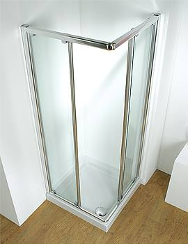 Original Corner Slider Shower Cubicle 800mm With Tray And Waste White