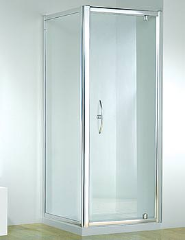 Original 800mm White Straight Pivot Door With Tray And Waste