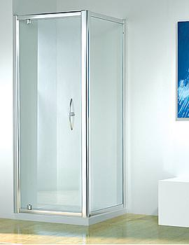Original 900mm White Straight Pivot Door With Tray And Waste