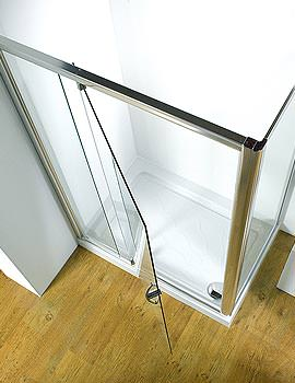 Kudos Original 1000mm White Straight Pivot Door With Tray And Waste