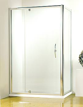Original 1200mm White Straight Pivot Door With Tray And Waste