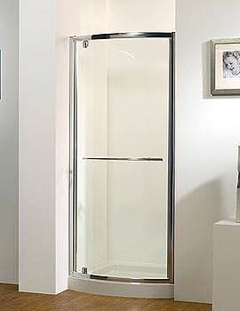 Original 800mm White Bowed Pivot Door With Tray And Waste