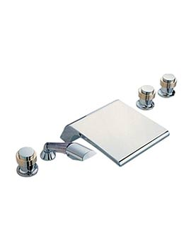 Tre Mercati 5 Hole Bath Shower Mixer Tap With Kit - 1014A