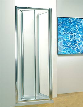 Image of Kudos Original 900mm White Bi-fold Shower Door With Tray And Waste