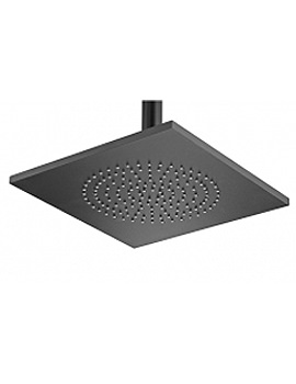 Aluminium Square Black Rose And Swivel - 55640