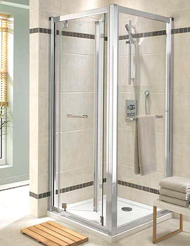 Twyford Geo6 Bi-Fold Shower Enclosure Door 900mm