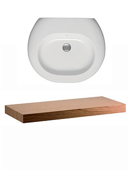 Ideal Standard Simply U Wall Hung Basin Shelf 1200mm - T7216DK