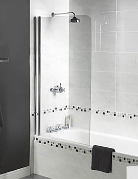 Shine Radius Bath Screen 850 x 1500mm - FBS0273AQU