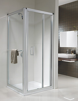 Twyford Hydr8 In-fold Shower Enclosure Door 900mm - H85900CP