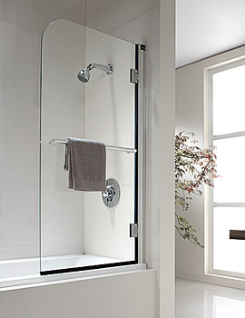 Twyford Hydr8 Radius Bath Screen 1500 x 800mm