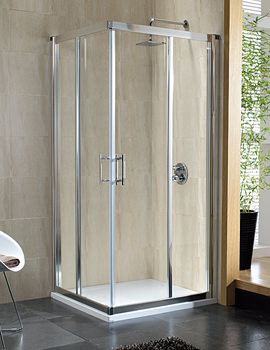 Twyford Geo6 Corner Entry Shower Cabin 900mm - G65303CP