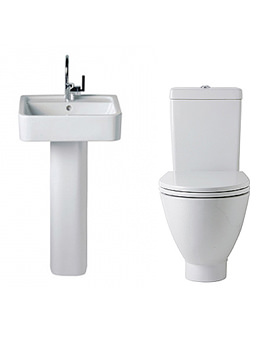 White Toilet And Basin Set