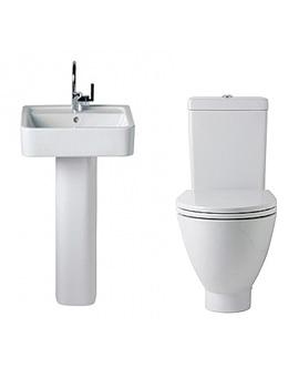White Toilet And Basin Set