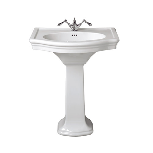 Large Image of Imperial Firenze Large Basin 705mm With Full Pedestal - FI1LB11030