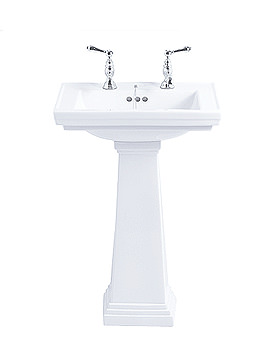 Imperial Astoria Deco Large Basin With Large Pedestal AD1LB11030