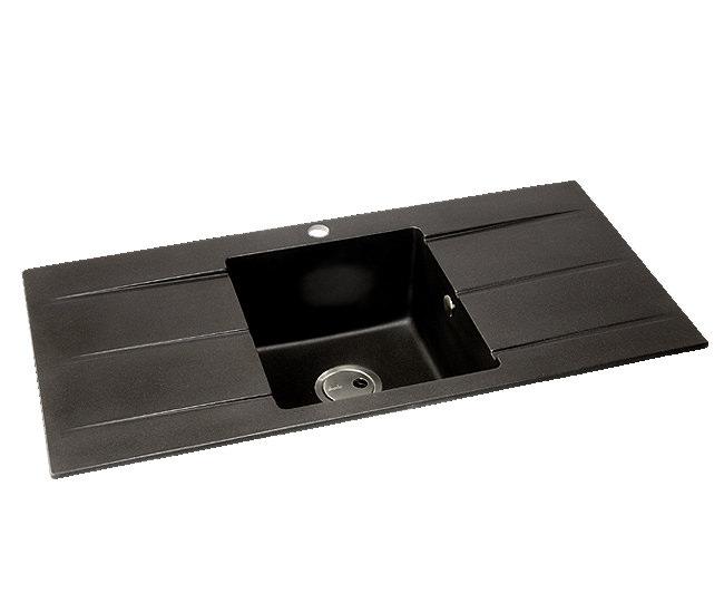 Abode Zero 1 0 Bowl Ceramic Kitchen Sink With Double Drainer