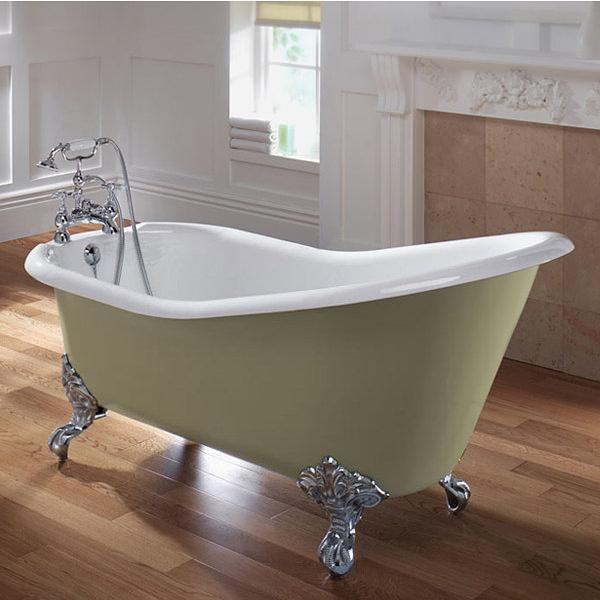 Imperial Ritz Cast Iron Slipper Bath 1540mm Zci000102s