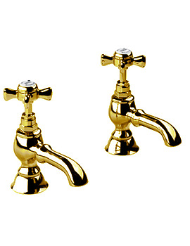 Imperial Edwardian Antique Gold 3-4 Inch Bath Pillar Taps - XG61700200