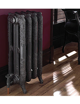 Taby Pewter Cast Iron Radiator 4 Bar - ZRAD03000000P
