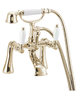 Georgian Bath Shower Mixer Tap Gold