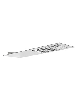 Storm Slimline Wall Mounted Showerhead With Square Edge - AB2427