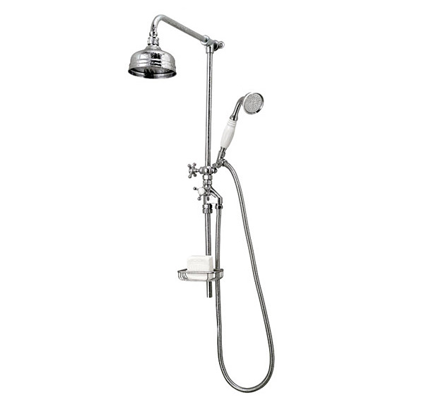 Large Image of Victorian Rigid Riser 5 Inches Flowmaster Shower Head And Kit - XS61500100