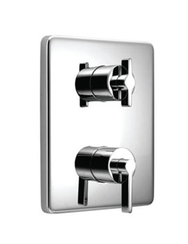 Ideal Standard Silver Faceplate And Handle - A3642AA
