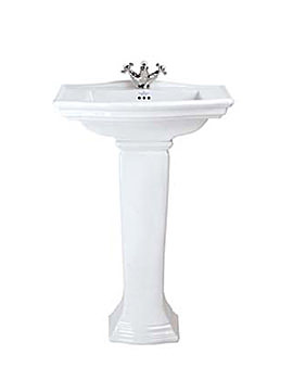 Imperial Westminster Medium Basin 600mm With Full Pedestal