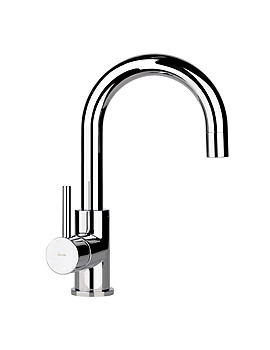 Image of Abode Harmonie Swan Neck Single Lever Basin Mixer Tap - AB1191