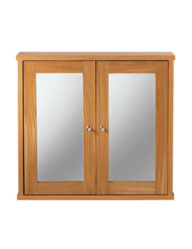 Imperial Linea Mirror Wall Cabinet Natural Oak Finish - XG34WCM020