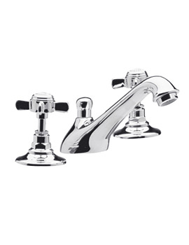 Image of Lauren Traditional 3 Tap Hole Basin Mixer Tap - IJ327