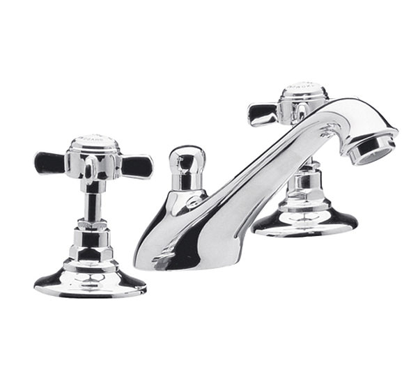Large Image of Lauren Traditional 3 Tap Hole Basin Mixer Tap - IJ327