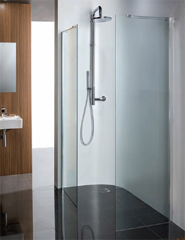 Design Walk-In Panel With Towel Rail 1000mm