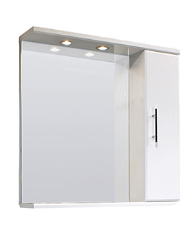 Lauren Mayford 750mm Mirror With Cabinet And Lighting Canopy