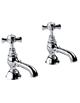 Edwardian Half Inch Basin Pillar Taps Chrome - XG61600100N