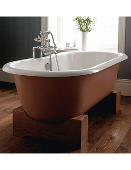Imperial Bentley Madera Cast Iron Bath With Wenge Cradle - ZCI000742