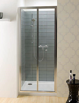 Edge Bi-Fold Shower Door 700mm - EBFSC0700