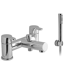 Sense 2 Hole Deck Mounted Bath Shower Mixer Tap With Kit - SEN-130+K