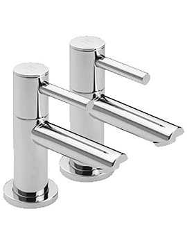 Poppy Pair Of Bath Tap Chrome - 44020