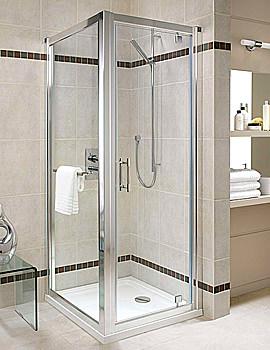 Twyford Geo6 Pivot Shower Enclosure Door 800mm - G64100CP